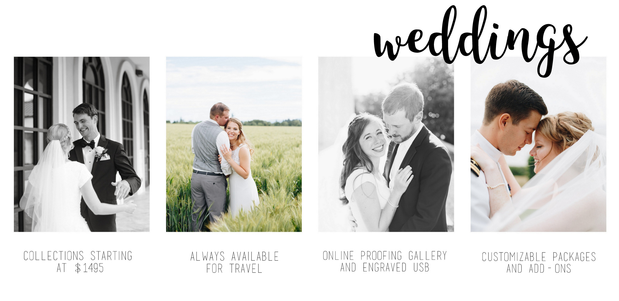 WEDDING COLLECTION OPTIONS FROM HANNAH ACHESON PHOTOGRAPHY, SPOKANE PHOTOGRAPHER