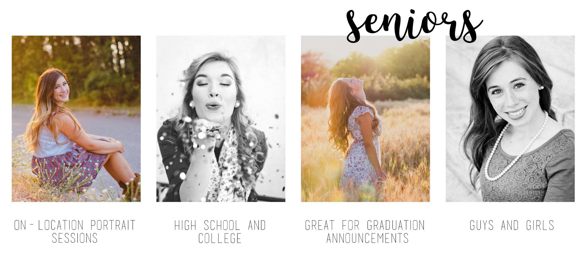 packages available for senior photography from hannah acheson photography, spokane washington photographer