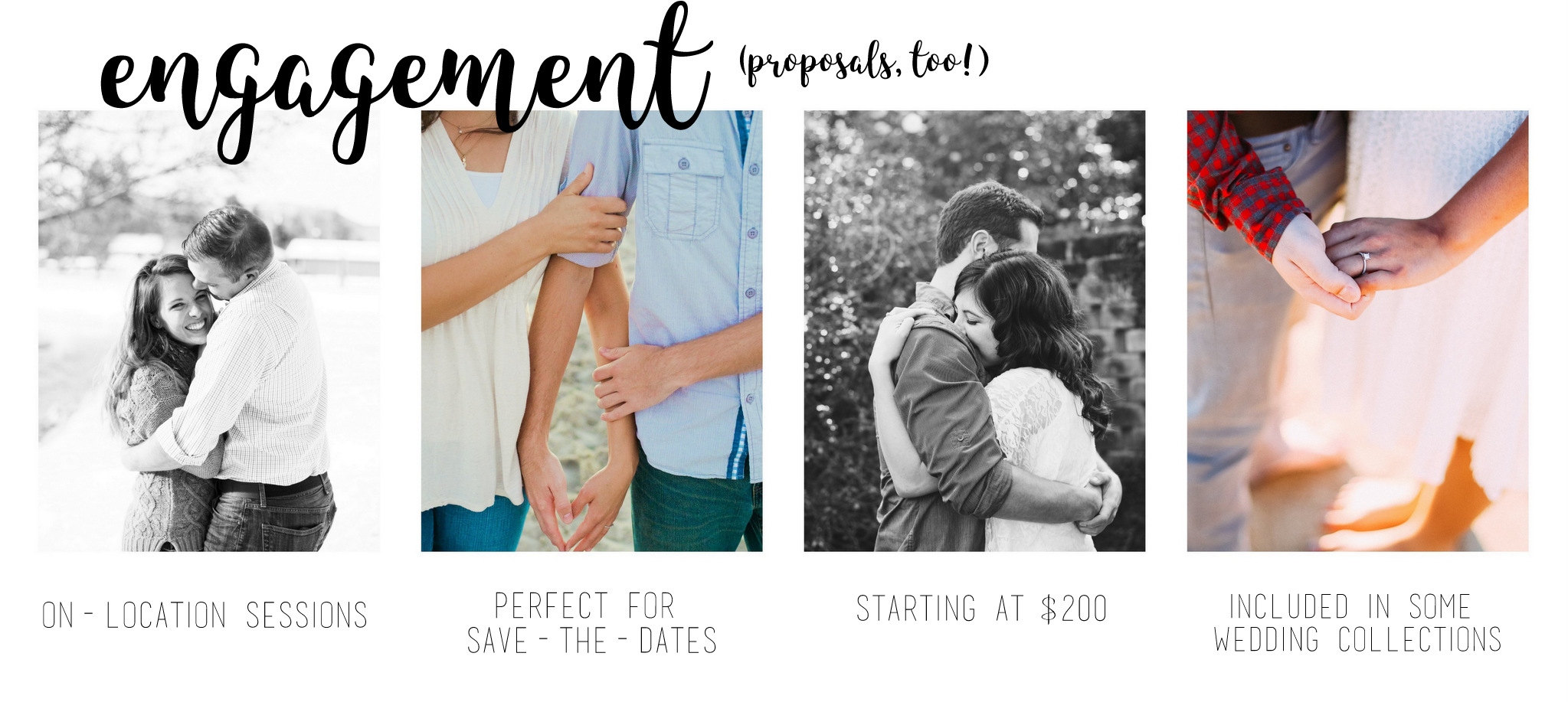 engagement photography options from hannah acheson photography, spokane washington photographer