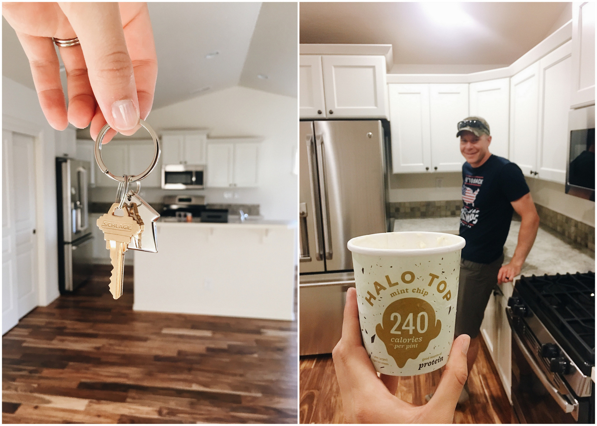 buying a new house -- and halo top