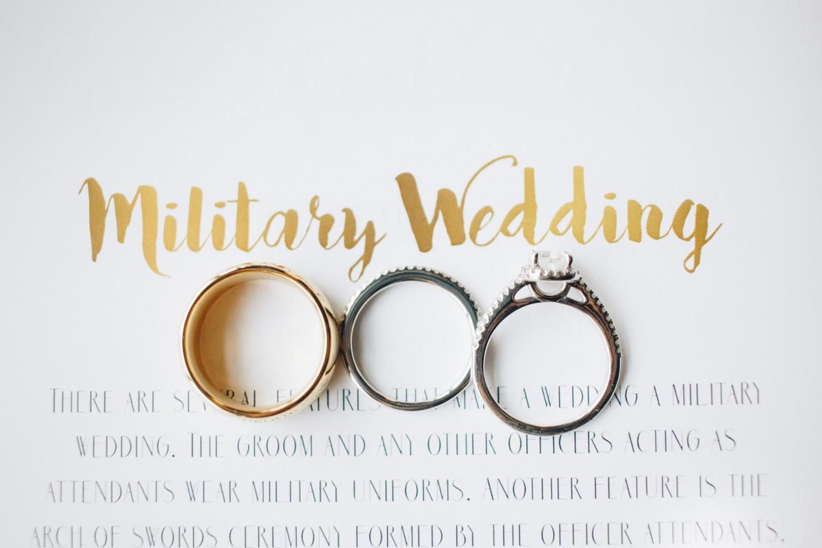 military wedding ring shot