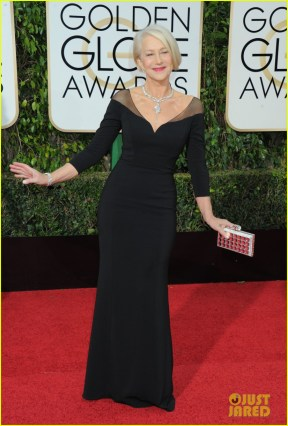 January 10, 2016: Helen Mirren arriving at the 73rd Annual Golden Globe Awards, held at the Beverly Hilton Hotel in Beverly Hills, California, Sunday, January 10, 2016. Mandatory Credit: Jennifer Graylock/INFphoto.com Ref: infusny-142