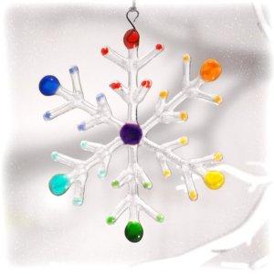 rainbow snowflake decoration
