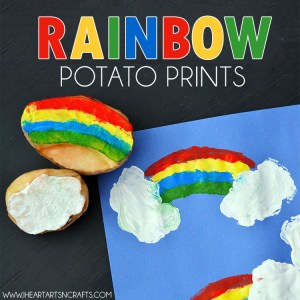 rainbow potato prints