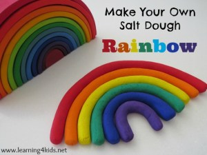 salt dough rainbow