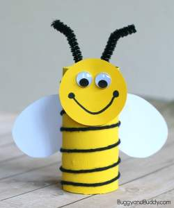 Bumblebee toilet roll craft
