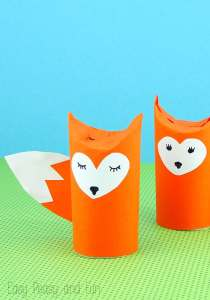 fox toilet roll craft