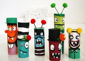 monster toilet roll crafts