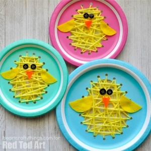 paper plate chicks