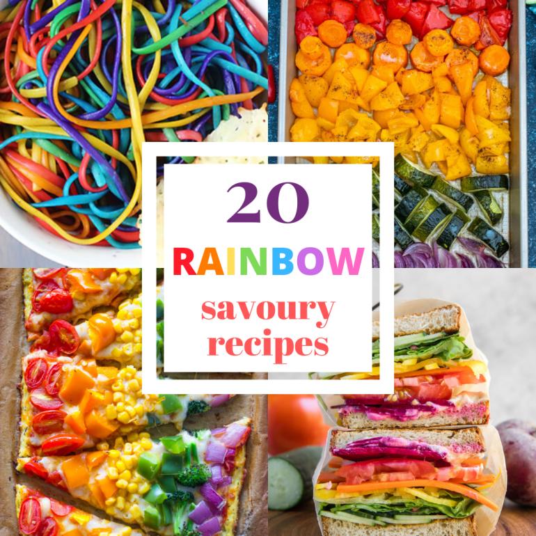 rainbow savoury recipes