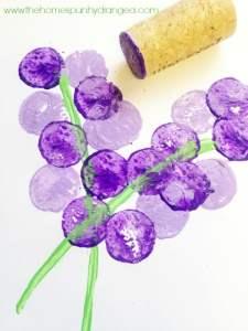 cork stamping hyacinth craft