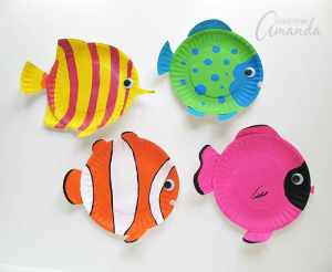 easy under the sea craft ideas paper plate tropical fish
