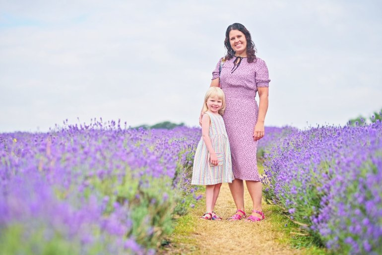 mother and daughter at Mayfield Lavender Farm