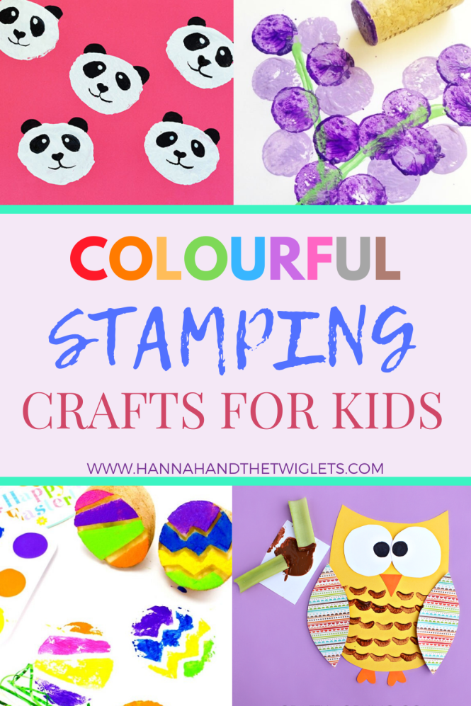 colourful stamping crafts for kids