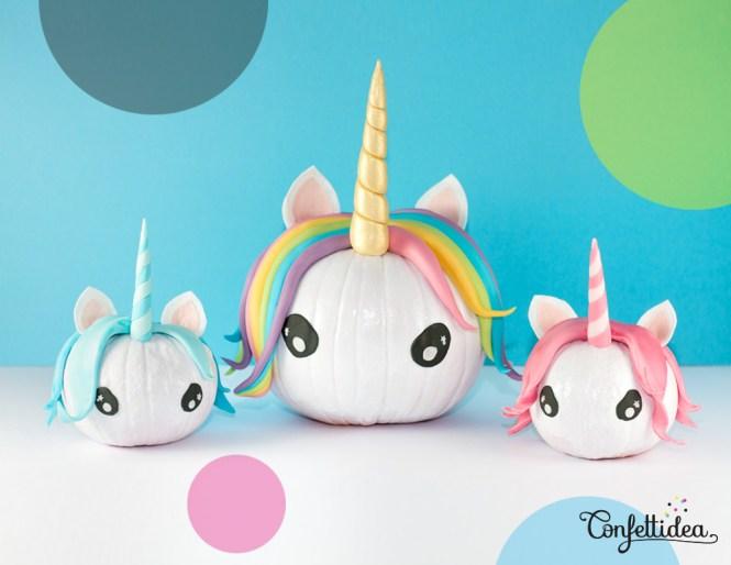 unicorn no-carve pumpkin