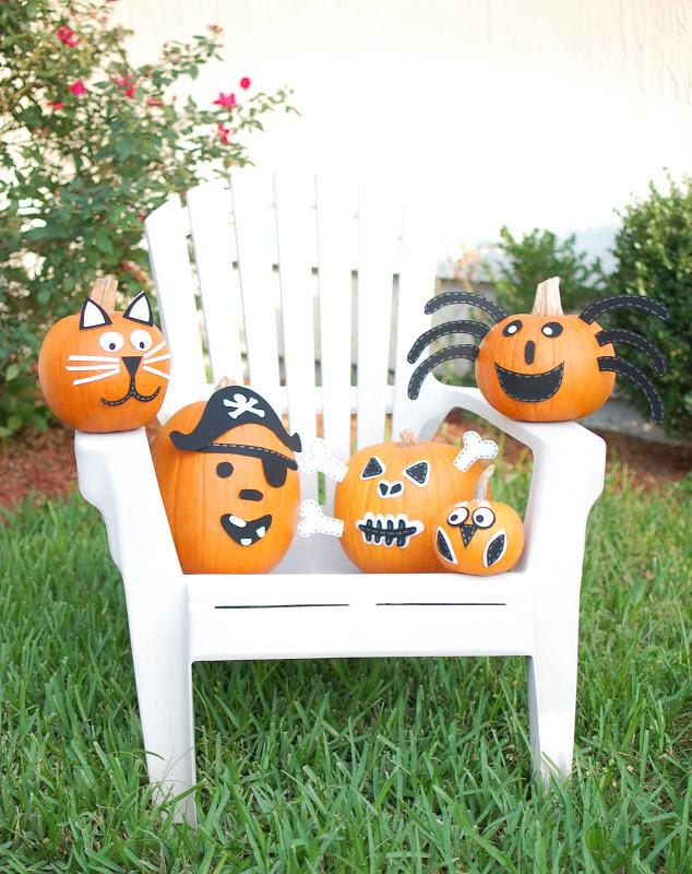 no-carve pumpkin creatures