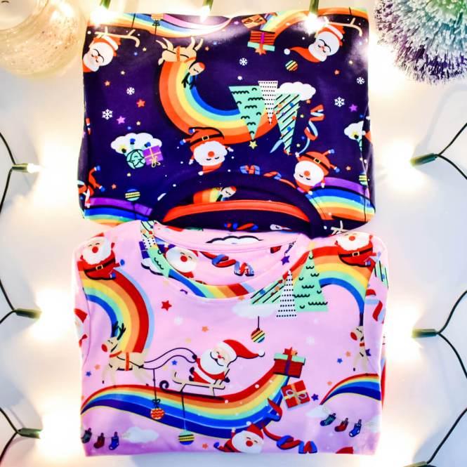 Colourful Christmas pyjamas for kids