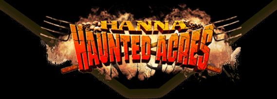 Hanna Haunted Acres logo.