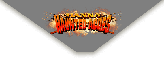 Hanna Haunted Acres in Indianapolis logo.