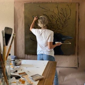 Hannah Brown Dallas Artist in studio