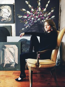 Dallas Artist Hannah Brown With Paintings