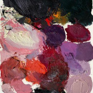 oil paint palette used by Dallas, Texas artist Hannah Brown to paint Dolce & Crowbbana