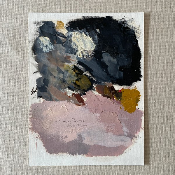 Oil paint palette used by Dallas, Texas artist Hannah Brown to paint Backstage