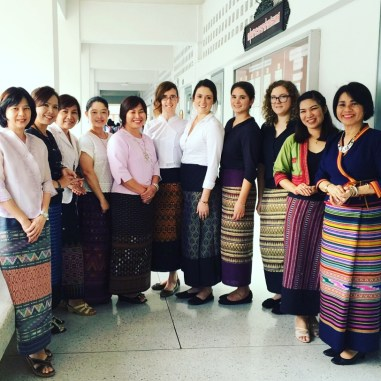 English Dept teachers dressed in our traditional Thai Lanna skirts