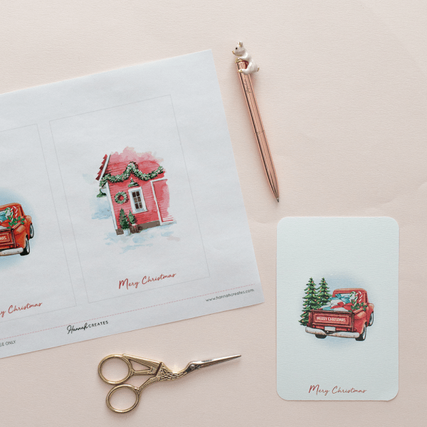 Postales Navidad by Hannah Creates