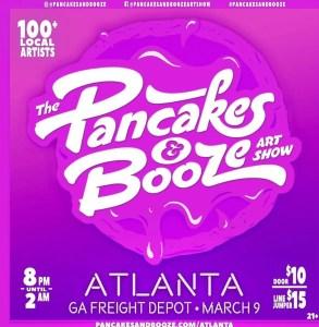 The Pancake and booze artshow atlanta ga freight depot march 9