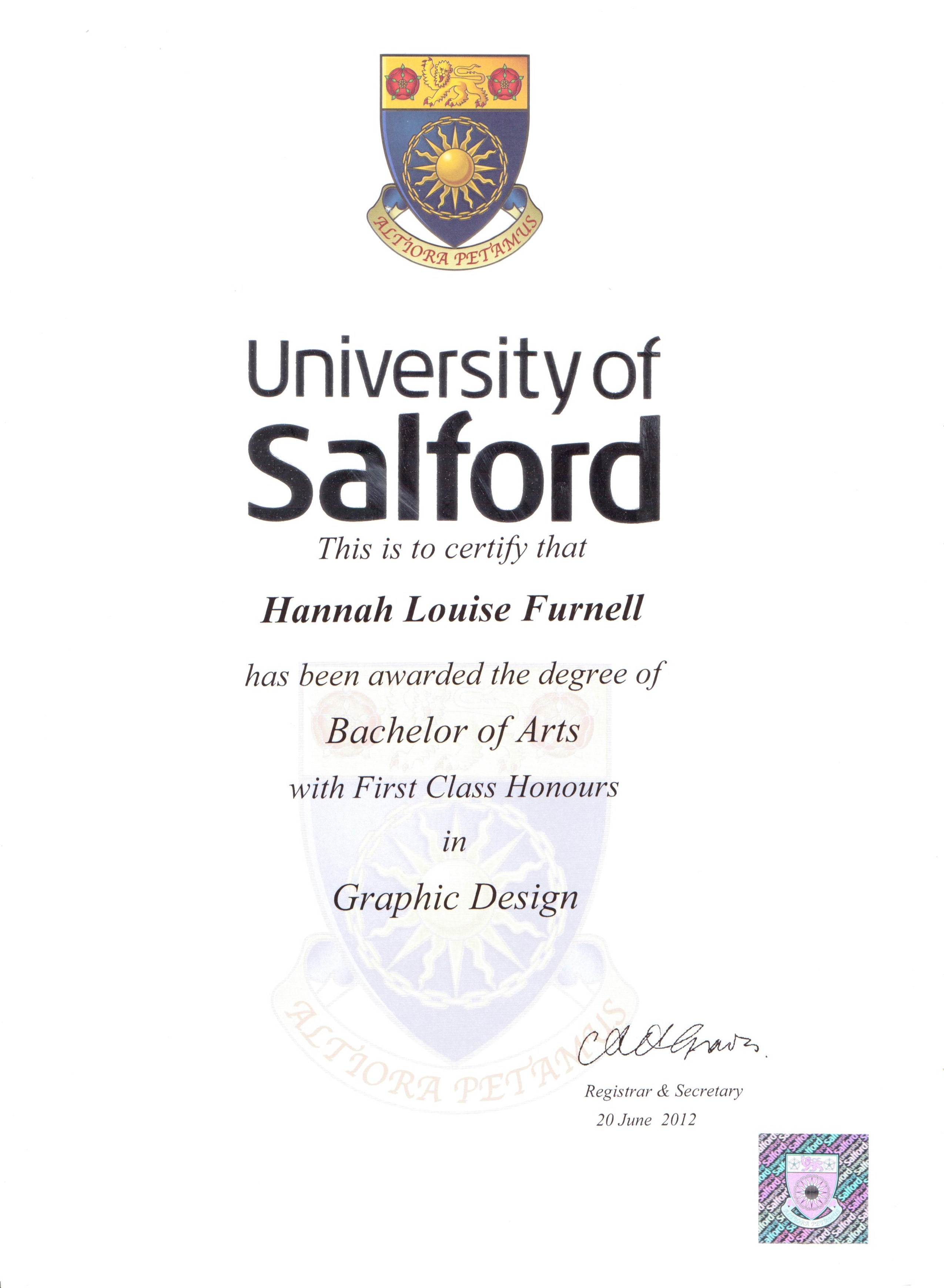 University Results: First Class Honours!