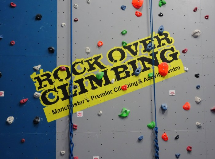 Rock over climbing Hannah Gets Hench