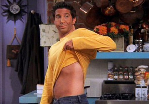 ross from friends fake tan