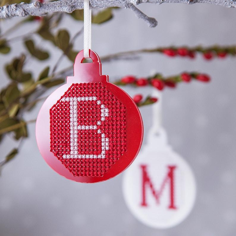 Cross Stitch Baubles