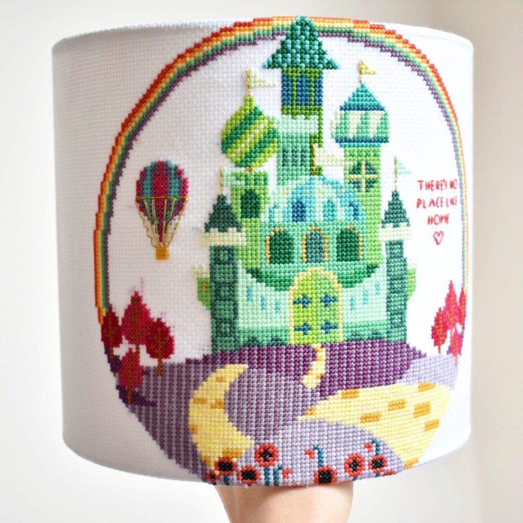 how-to-make-a-cross-stitch-lampshade-finished-shade