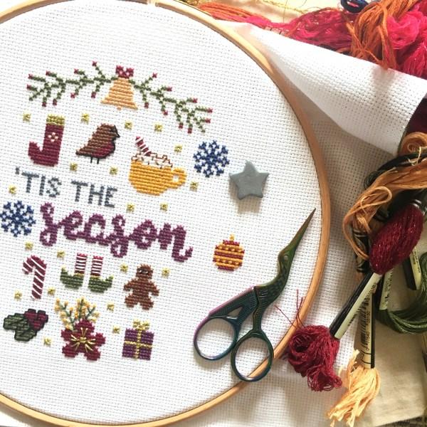 tis-the-season-cross-stitch-hoop