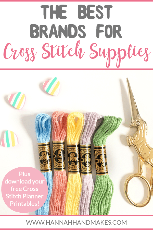 In this post/episode I'm chatting all about my favourite brands for cross stitch supplies. I share  the best brands of aida, thread, scissors, and more!