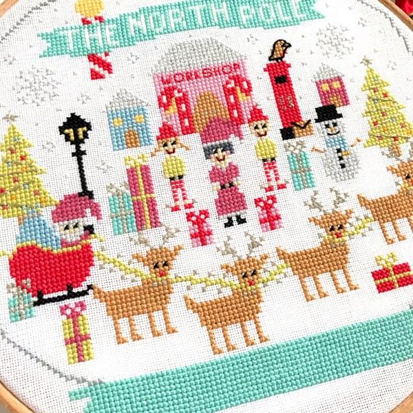 north-pole-cross-stitch-close-up