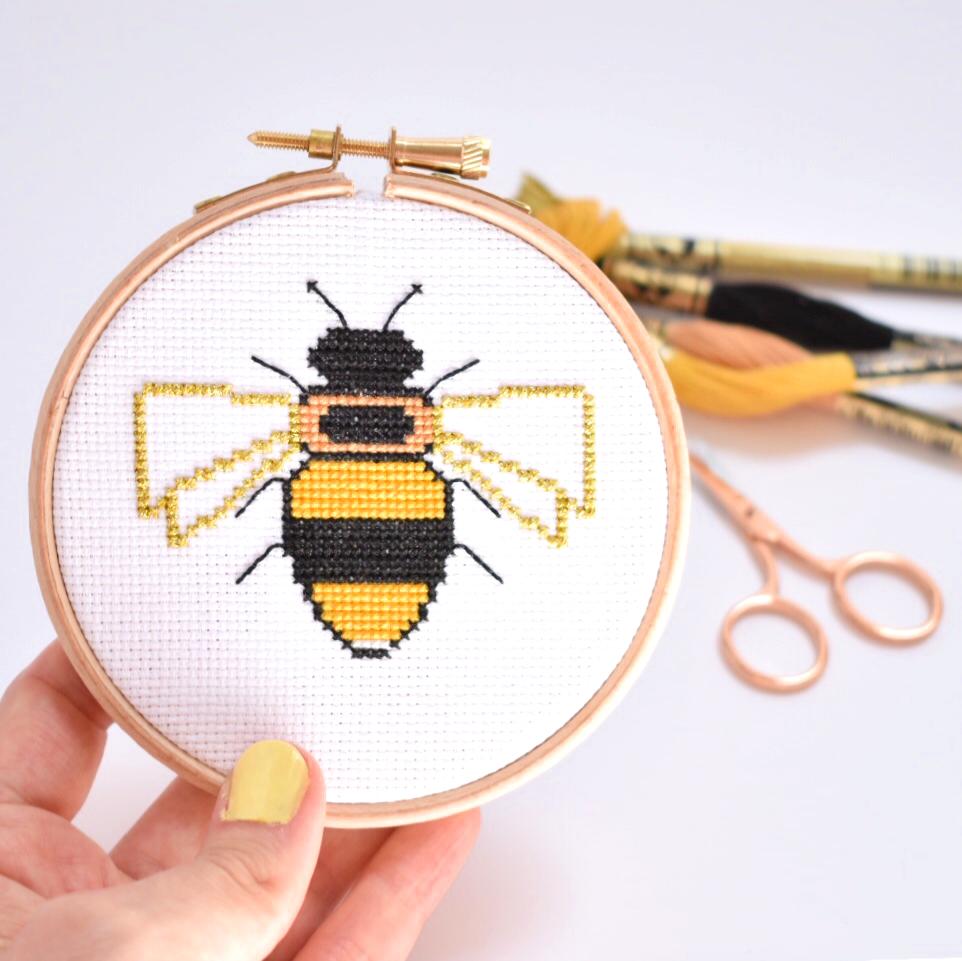 bee-cross-stitch-kit