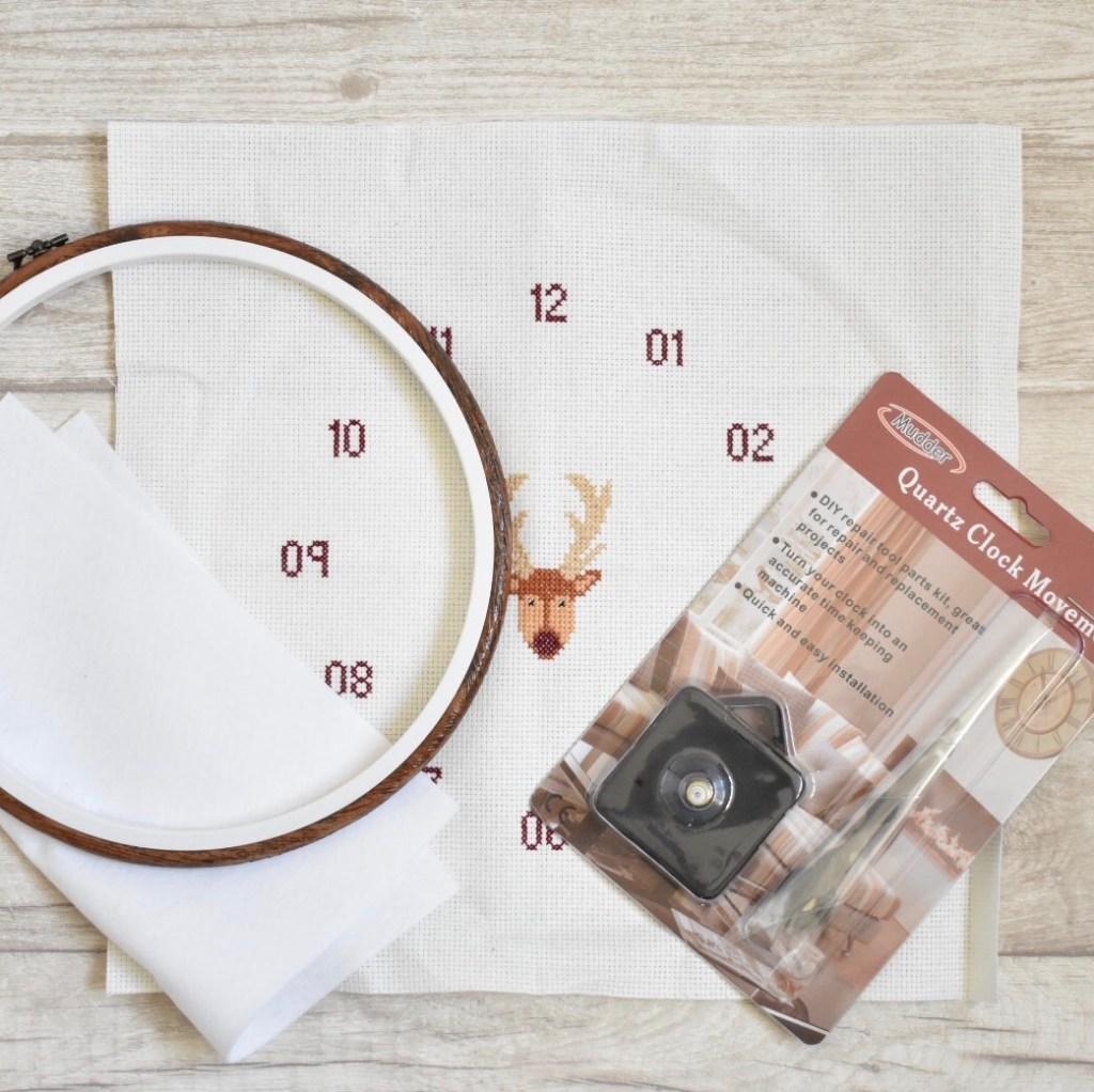 cross-stitch-clock-tutorial-materials
