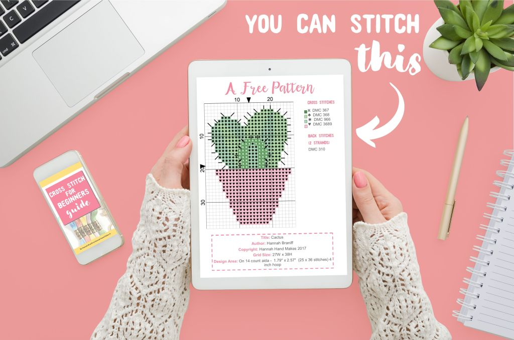 How to Cross Stitch Guide for Beginners by Hannah Hand Makes.