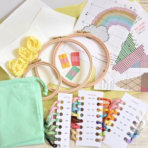 STAY AT HOME SUMMER CROSS STITCH SET