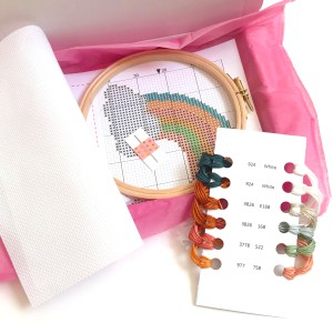 earth rainbow cross stitch kit