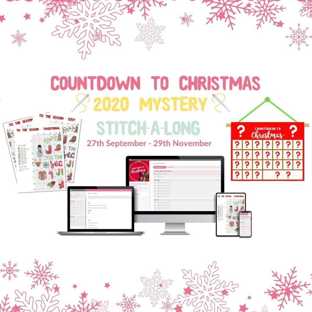 Countdown To Christmas Cross Stitch-a-Long 2020 by Hannah Hand Makes