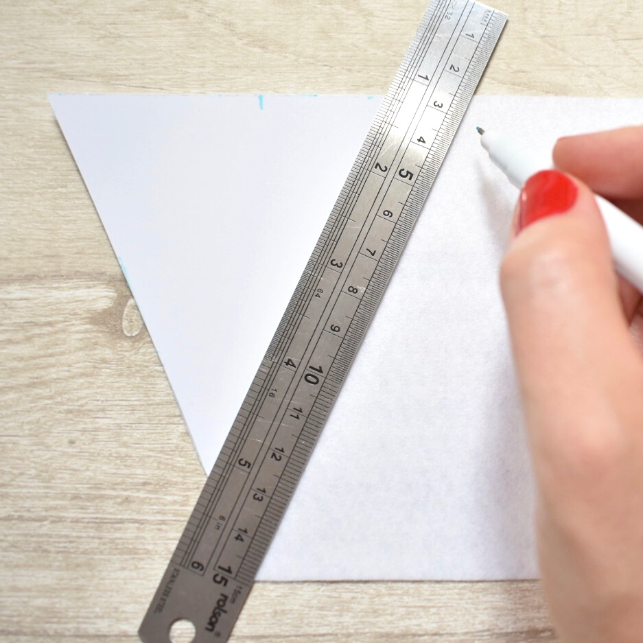 use ruler to draw lines