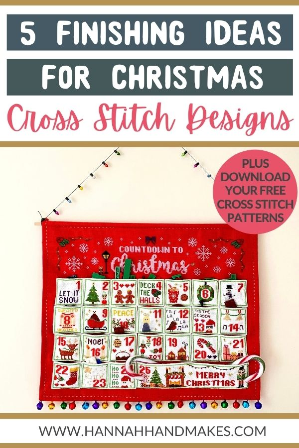 5 finishing ideas for christmas cross stitch designs by hannah hand makes