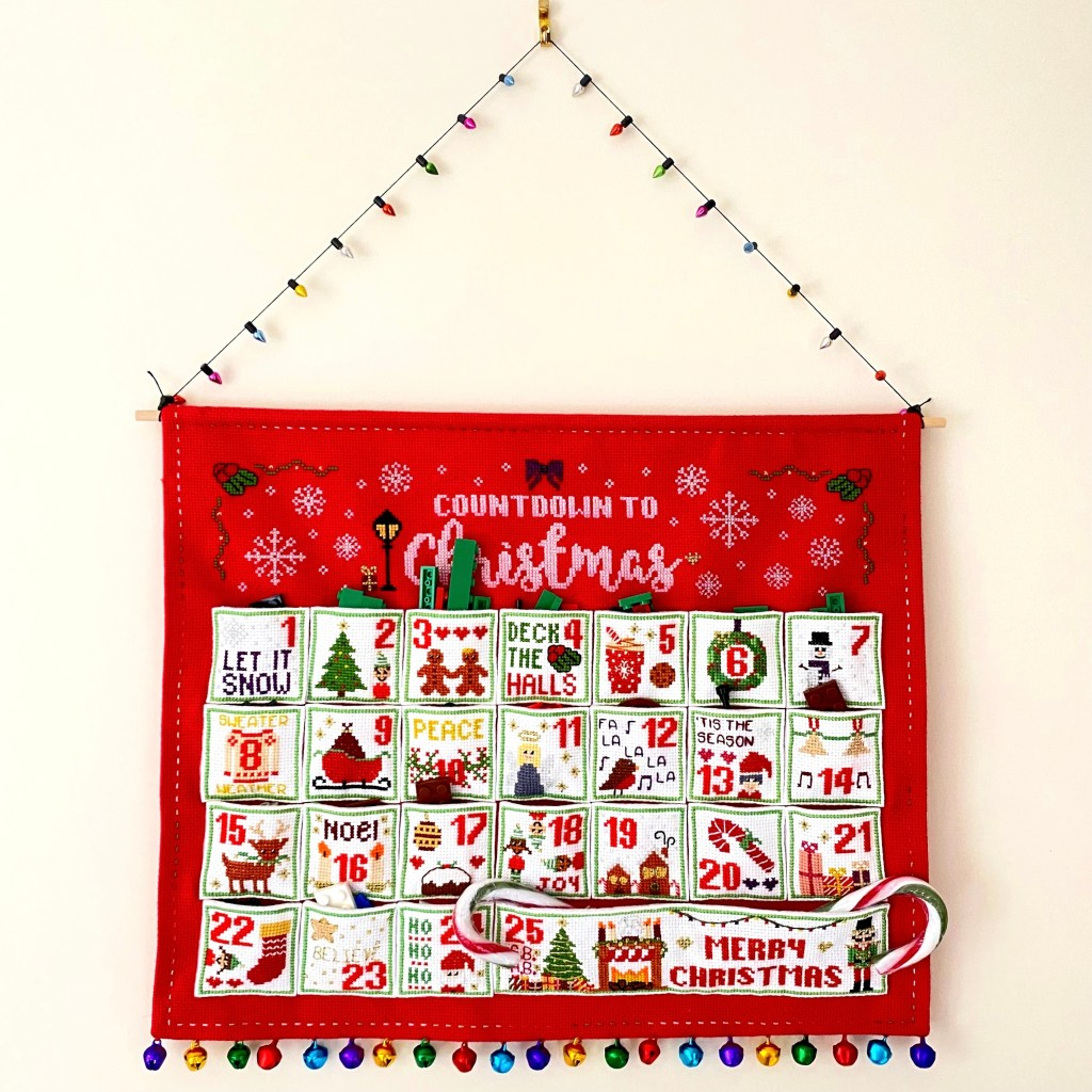 countdown to christmas stitch a long finished