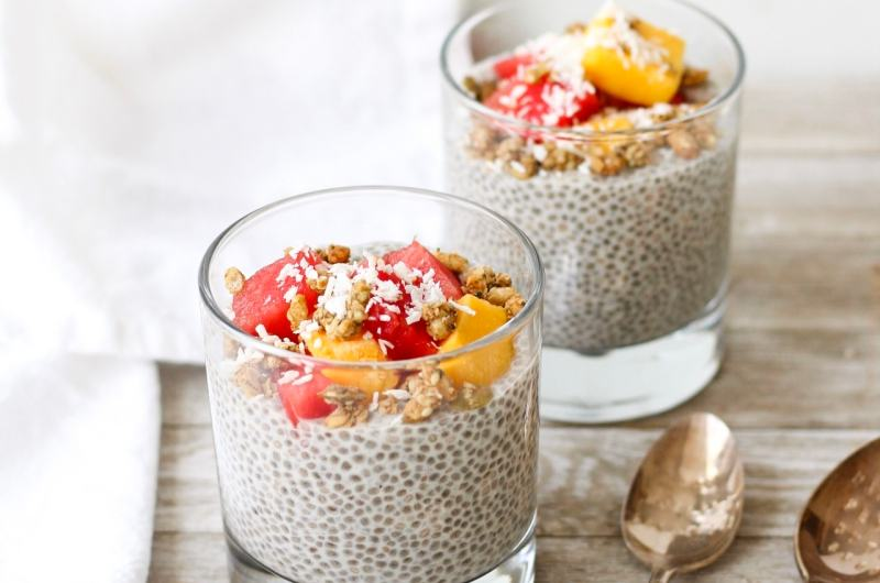 This easy vegan Vanilla Chia Pudding makes a healthy and delicious snack or quick breakfast.