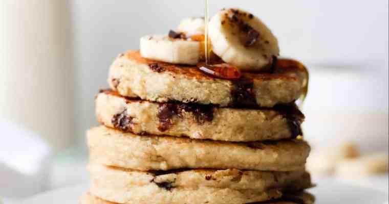 Oat Flour Chocolate Chip Pancakes