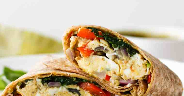 Pesto Vegetable Egg Wraps
